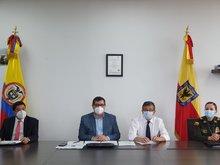 Supervigilancia y Secretaría de Seguridad, Convivencia y Justicia, socializando el convenio firmado  que fortalecerá la seguridad ciudadana en Bogotá